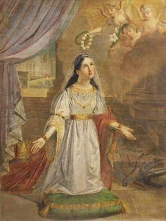 St. Philomena Religious Pictures, Religious Art, Altar, Saint Philomena, Christian Soldiers, French Paintings, Christ The King, Antique Market, Catholic Saints