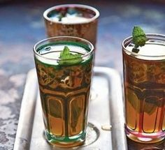Moroccan Tea - made with  Gunpowder tea ,Chinese green tea rolled into small pellets, which look like old-fashioned gunpowder. Whether you host a hafla or want to serve a refreshing drink to your friends in an informal get together- the ubiquitous tea served throughout...