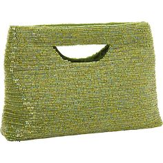 #FabricHandbags, #Handbags - Moyna Handbags Small Rectangle Clutch Lime - Moyna Handbags Fabric Handbags