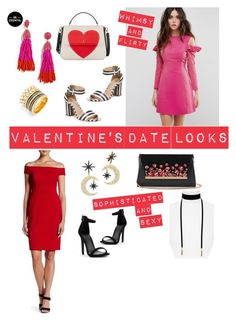V day looks by styledsugarplum on Polyvore featuring polyvore, fashion, style, ASOS, Adrianna Papell, Nanette Lepore, White House Black Market, Kate Spade, BaubleBar and clothing