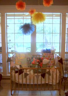 Like idea of using portable crib as gift station!
