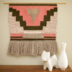 Large Hand Woven Textile Wall Hanging / Boho / Woven Tapestry / Fiber Art by SmoothHillsWeaving on Etsy
