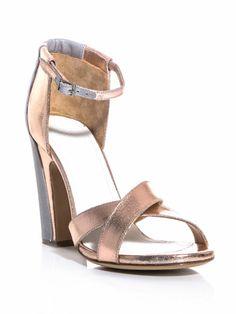 Maison Martin Margiela Bi-panel leather sandals