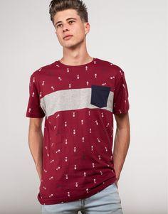 camiseta paneles print espinas