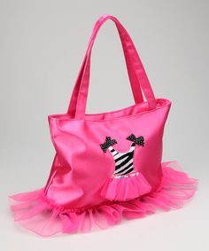 Take a look at this Hot Pink Zebra Dress Bag by Popatu by Posh on #zulily today!