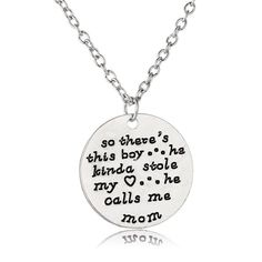 """So There's This Boy"" Hand Stamped Charm Necklace"