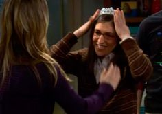 Put it on me, put it on me, put it on me.  I'm a princess and this is my tiara!