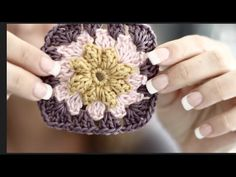 Easy To Make Spring Flower Granny. This video is about Creating a beautiful Easy to make Spring Flower Granny with Basic Crochet Techniques Yarn used for this Tutorial: . Crochet Squares, Crochet Granny, Granny Squares, Halloween Jelly, All People Quilt, Diy Fidget Spinner, Baby Girl Crochet, Little Learners, Crochet Basics