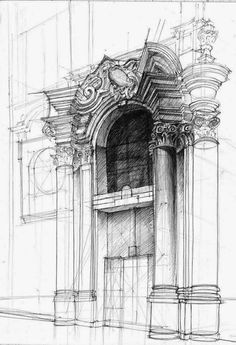 20-Baroque-Portal-Łukasz-Gać-DOMIN-Poznan-Architectural-Drawings-of-Historic-Buildings-www-designstack-co