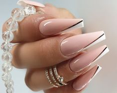 High quality Press on nails by on Etsy Cute Acrylic Nail Designs, Best Acrylic Nails, Acrylic Set, Dope Nails, Fun Nails, Gorgeous Nails, Pretty Nails, Milky Nails, Nagel Hacks