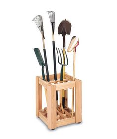 Cedar Creek Tool Rack    No more tools scattered across the yard. Keep them tidy (and easy to find) with this sturdy cedar wood container.    To buy: $99, stacksandstacks.com