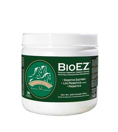 Giddyap Girls® BioEZ™ 8 oz. Is a multi-enzyme blend of Live Probiotics, Digestive Enzymes, Prebiotic Energizers - formulated for Horses - to improve digestion and increase nutrient absorption from their diet. BioEZ™ promotes healthy digestion and uptake, improves immunity and may help reduce incidences of colic. It is a highly palatable, powdered top dress that can be fed in combination with other feed premixes or vitamin and mineral formulas.