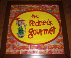 """Duck Tape Redneck Gourmet Art,   my version of David Boyd's mural on the outside wall of the restuarant in downtown Newnan.   """"Duck Tape Art by Mike"""" on Facebook"""
