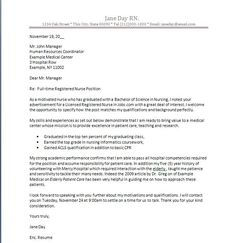 Nursing Cover Letter New Grad Nurse Example Help
