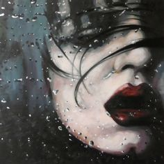 "thomas saliot; Oil, Painting ""Dark water"""