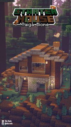 Minecraft Houses Survival, Minecraft Cottage, Minecraft House Tutorials, Cute Minecraft Houses, Minecraft Houses Blueprints, Minecraft City, Minecraft Plans, Minecraft House Designs, Amazing Minecraft