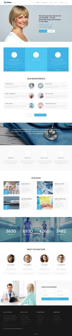 Deliver is high quality multipurpose #Bootstrap HTML #template with 20 stunning homepage layouts and 180 HTML pages. #medical #clinic Download Now!