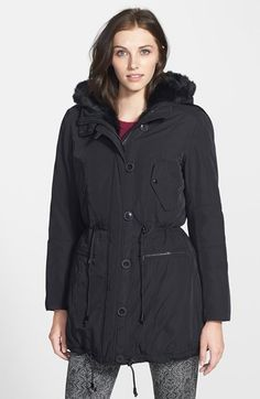 Marc New York by Andrew Marc Marc New York 'Dee' Faux Fur Trim Anorak available at #Nordstrom