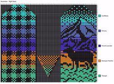 "Вязание.  Жаккард - ""Зимняя радуга"" Knitted Mittens Pattern, Crochet Gloves, Knit Mittens, Crochet Slippers, Mitten Gloves, Knitting Patterns, Knitting Charts, Filet Crochet, Knit Crochet"