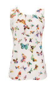 Wallis white butterfly top