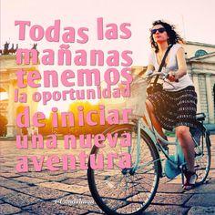 """""""Todas las mañanas tenemos la #Oportunidad de iniciar una nueva #Aventura"""". #Citas #Frases @Candidman"""