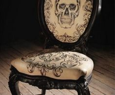 Perfect for our red velvet chair in the Da y of the Dead room!