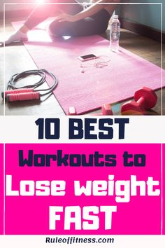 Exercising and diet are essential to lose weight. Here are the 10 best workouts to lose weight fast. Boost your weight loss with those workouts. The best exercises to burn belly fat and get fit faster. Best Diet Plan For Weight Loss, Workout To Lose Weight Fast, Fast Workouts, Lose Weight In A Week, Losing Weight Tips, Healthy Weight Loss, How To Lose Weight Fast, Workout Tips, Workout Plans