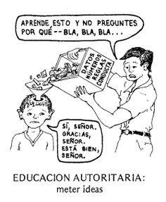 educación autoritaria