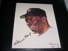 1989 WILLIE MAYS signed AUTO RON LEWIS LIVING LEGENDS 8X10 photo PRINT #RD/5000