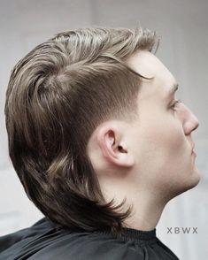 Modern Mullet Haircut, Mens Mullet, Mullet Fade, Mohawk Mullet, Mullet Hairstyle, Hairstyle Men, Hairstyle Ideas, Men's Mohawk, Hairstyles Haircuts