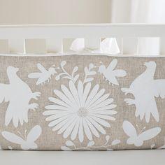 "Serena & Lily ""Marlo"" #Otomi embroidery inspired #crib bedding #nursery"