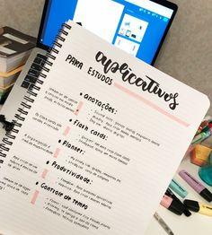 Luana i love you so much💗 School Organization Notes, Study Organization, School Notes, Bullet Journal Planner, Bullet Journal School, Lettering Tutorial, School Motivation, Study Motivation, One Note
