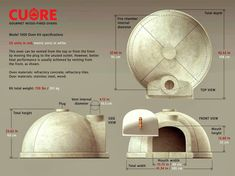 Cuore Ovens New Model 1000 Plus Gourmet Wood-Fired Oven Kit - Internal fire Chamber Diameter. Ask for Extra Oven Diy, Diy Pizza Oven, Pizza Oven Outdoor, Pizza Ovens, Wood Oven, Wood Fired Oven, Tyni House, Brick Projects, Oven Design