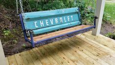 Tailgate swingYou can find Tailgate bench and. - Tailgate swingYou can find Tailgate bench and more on our websit - # Car Part Furniture, Outside Furniture, Automotive Furniture, Automotive Decor, Design Furniture, Furniture Projects, Outdoor Furniture, Man Cave Garage, Truck Tailgate Bench