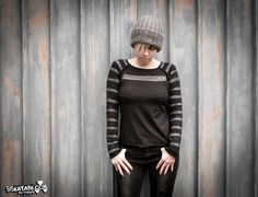 ROOTS - Grey Stripes Shirt Urban Industrial Grunge Edgy Metal Long sleeves by siskatank on Etsy https://www.etsy.com/listing/215902316/roots-grey-stripes-shirt-urban