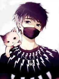 Black Haired Anime Boy With Mask Google Search Anime Drawings
