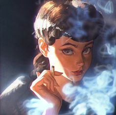 Discover Russian artist Ilya Kuvshinov's gallery of characters and her illustration of famous game and movies characters