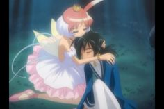 One of the most famous Duck/Fakir moments from Princess Tutu: Duck becomes Tutu and saves Fakir from the oak tree before it destroys him, because true love means saving your boyfriend from a soul-sucking tree LOL