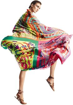 """Foile de Soie""   Model: Karlie Kloss, Photographer: David Sims, Harper's Bazaar Spain, April 2013"