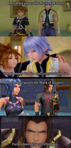 You ruined everything but I still like terra. I was so excited riku too!