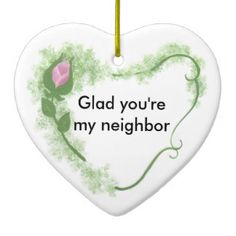 Neighbor Ceramic Ornament