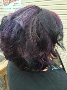 Oil-slick hair from Get Brandid Salon Oil Slick Hair Color, Slick Hairstyles, Salons, Hair Makeup, Gray, Lounges, Grey, Party Hairstyles
