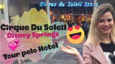 Vlog 3- DISNEY SPRINGS - CIRQUE DU SOLEIL - TOUR NO HOTEL | Jacky Coutinho