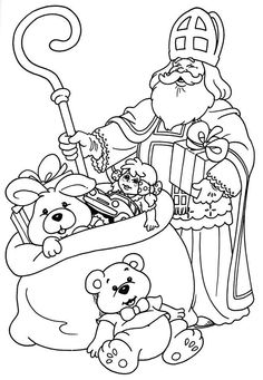 21 Saint Nicholas Coloring Page Creation Coloring Pages, Elsa Coloring Pages, Coloring Pages Winter, Tree Coloring Page, Free Printable Coloring Pages, Coloring For Kids, Christmas Countdown, Christmas Crafts, Father Christmas