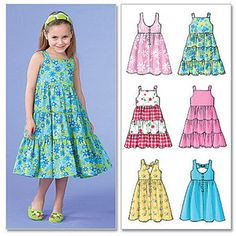 McCall's Children's and Girls' Dresses, CDD (2, 3, 4, 5)