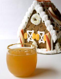 Gingerbread Apple Cocktail: Domaine de Canton, vanilla vodka, apple cider, lemon juice, agave syrup