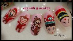#cnynailarts #design #2016nails #cute #monkey #artdesign #nailcityhome Can following by #Instagram #snapeee #Twitter #facebook #tumblr #pinterest ID : NailCityHome
