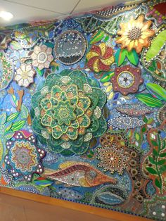 Mosaic Wall. Could not trace the artist.
