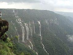 7 Sister Falls Cherrapunji Meghalaya, India