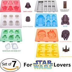 Candy Molds By Vibrant Kitchen for Star Wars Lovers Kitchen Chocolate Molds Ice Cube Trays Novelty Silicone Shapes Durable Baking Molds (Set of 7) Vibrant Kitchen http://www.amazon.com/dp/B018PFIM0Q/ref=cm_sw_r_pi_dp_PqTDwb0G70VC6